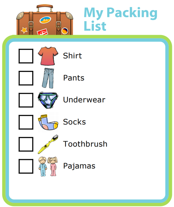 Packing Lists To Get Out The Door For Daily Or Weekly Sports Practices Are Also A Great Idea Good Checklist Can Be Life Saver Kids And Adults