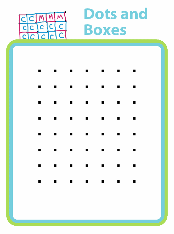 photo about Dots and Boxes Game Printable known as Printable Generate Actions For Children