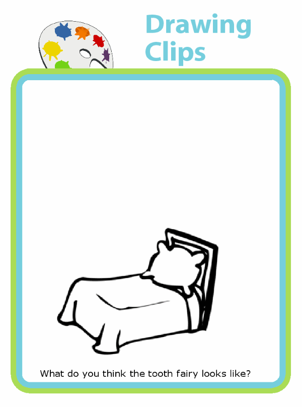 Printable drawing clips with suggestions to get kids started