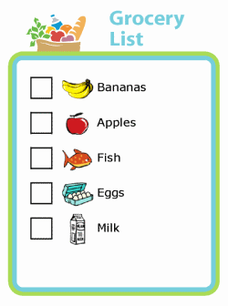 Picture checklist so kids can pack for your next trip
