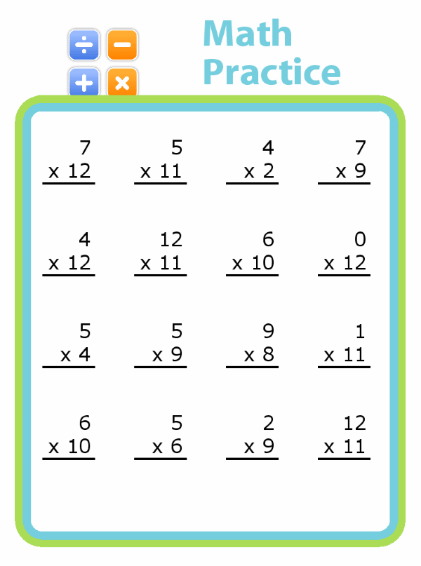 From single digit addition all the way through 5 digit division, you can challenge your kids at their level.