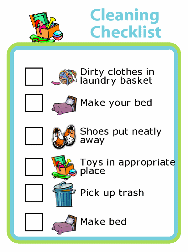 Got a kid who won't clean their room? They may honestly not know how! Try teaching them how by breaking down the job into manageable steps with this room cleaning checklist.