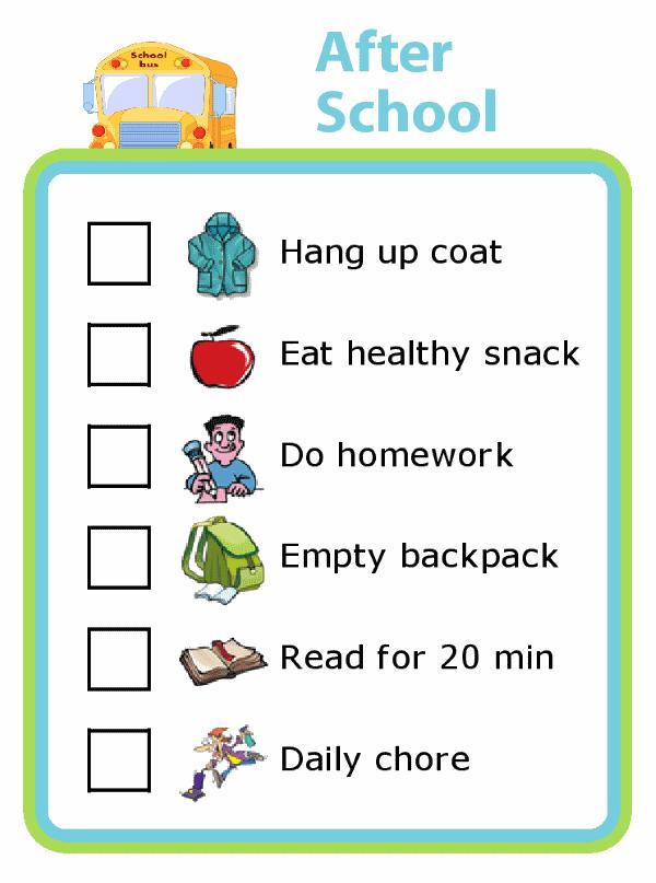 checklists and chore charts