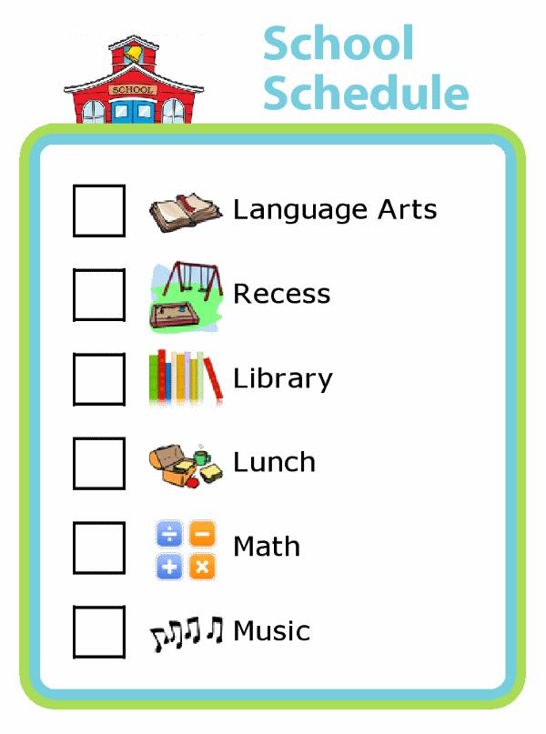 Daily School Schedule - The Trip Clip