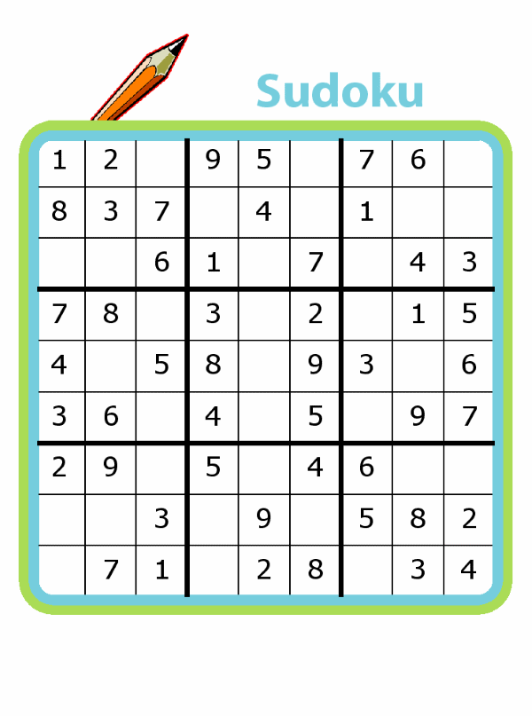 4x4, 6x6, and 9x9 sudoku puzzles for kids