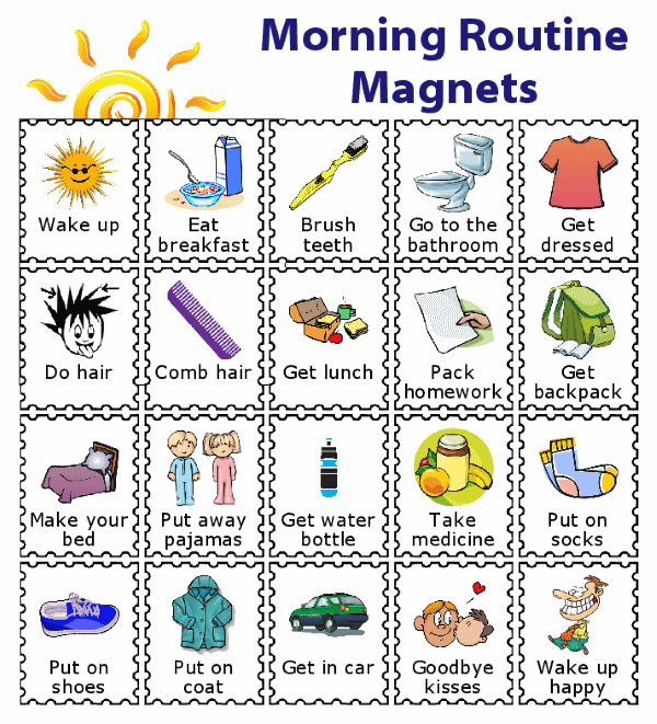 make your own magnetic morning routine