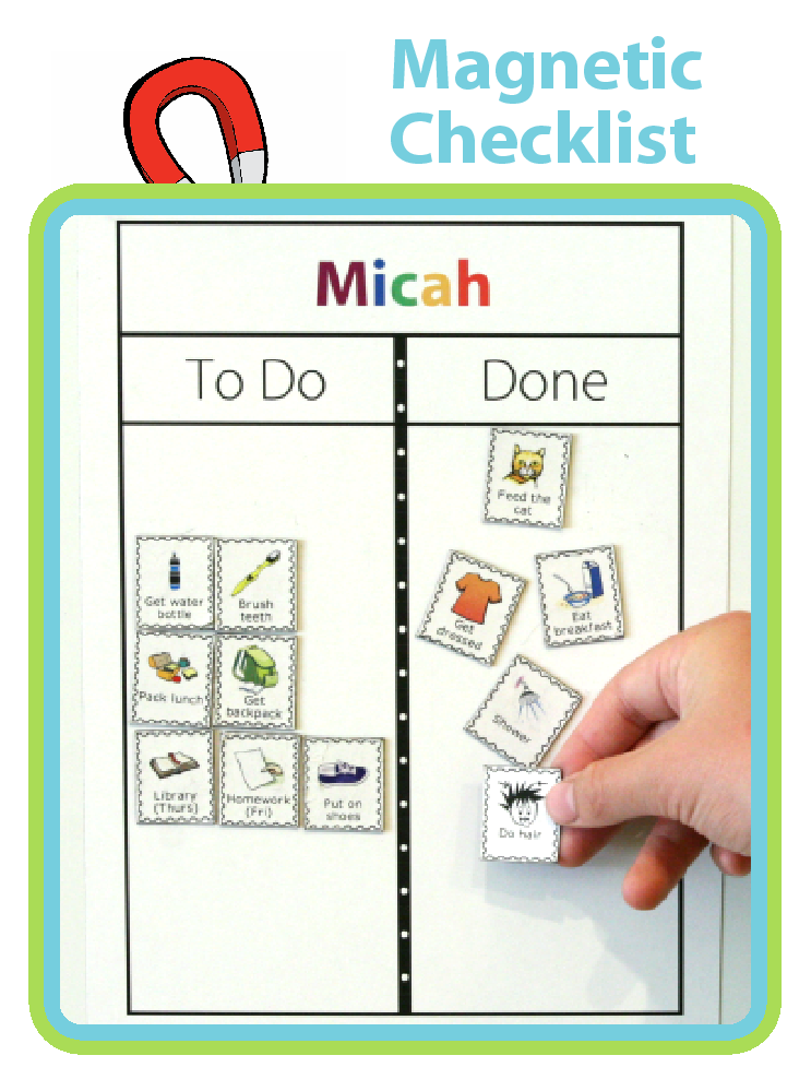 Find out how capable your kids are with this Magnetic Checklist. Perfect for setting up a morning routine or after school checklist.