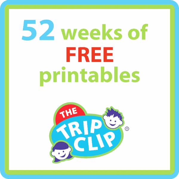 52 weeks of free printables from The Trip Clip®