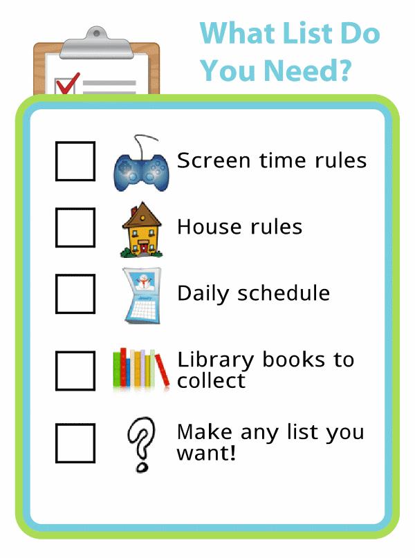 make your own checklist