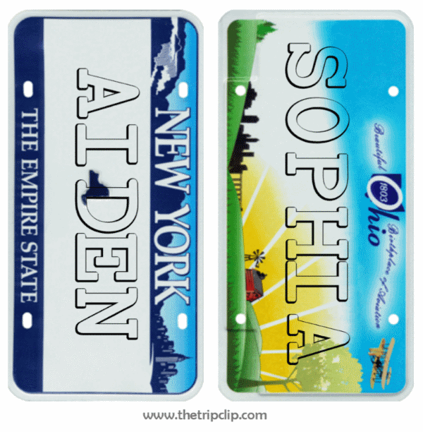 Design Your Own License Plate The Trip Clip - License plate name tag template