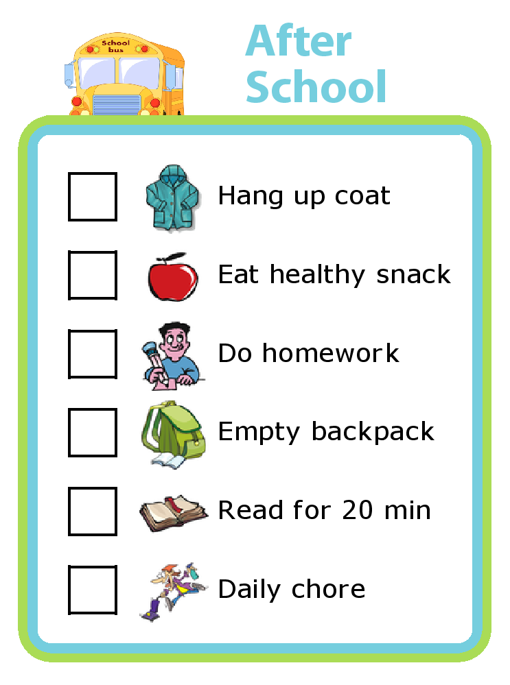 school checklist on after school 28 images home alone  : editable printable after school checklist for kids from www.wolfcreekmalls.com size 743 x 999 png 82kB