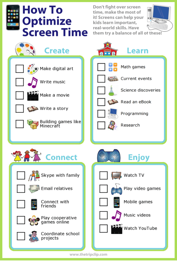 photograph regarding Screen Time Rules Printable called No cost Lists Against The Holiday Clip®!
