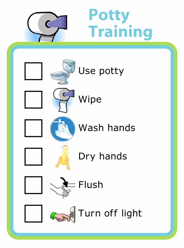 Potty Training Checklist With Pictures For Kids The Trip