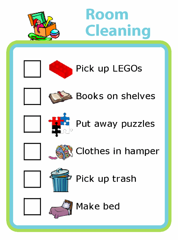 room by room cleaning checklist pdf