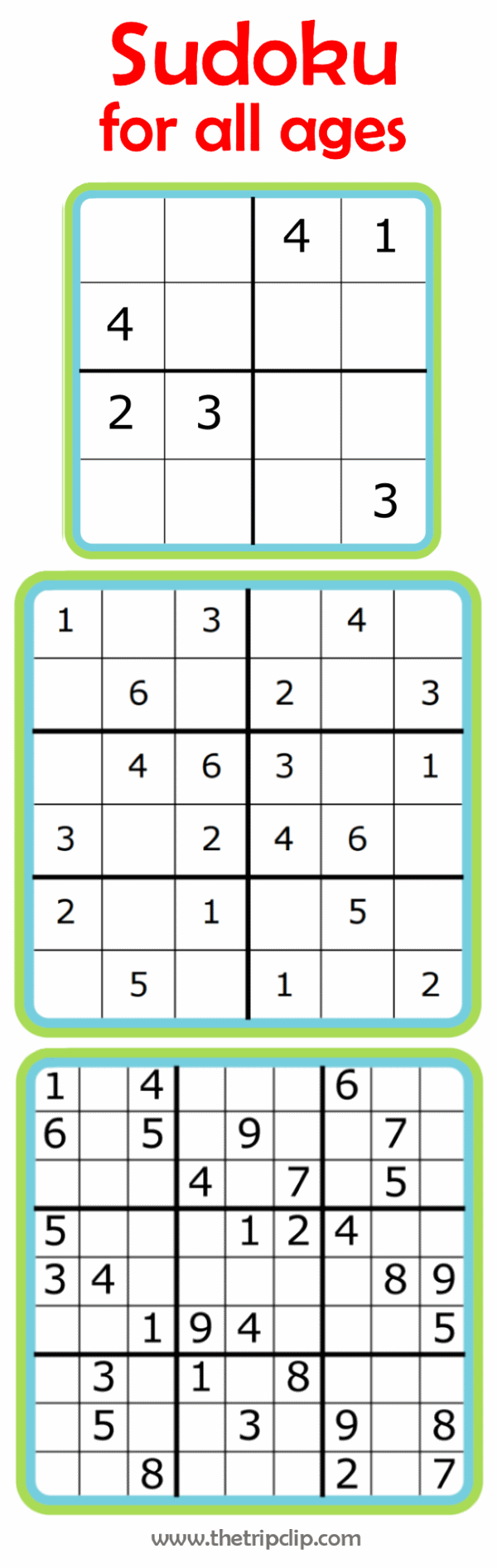 picture regarding 6x6 Sudoku Printable named Sudoku for All Ages As well as a good deal of other printable pursuits for children