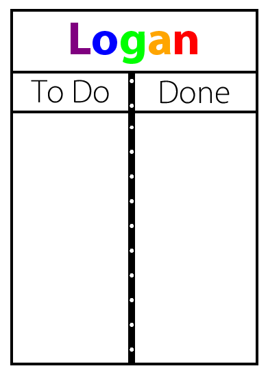 This magnetic To Do / Done board is a great way to help your kids with a morning routine, after school checklist, bedtime routine, or chore cart.